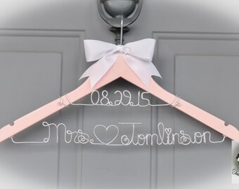 Personalized Wire Name Hanger - A One-of-a-Kind Wedding Dress Hanger