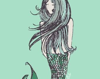 """Greeting Card """"Mermaid"""""""