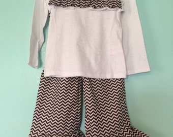 3T Girls Ruffle Pants Outfit Set
