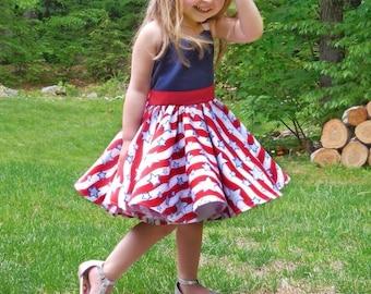 Custom 4th of July Dress , Patriotic dress