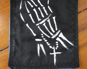 Skeleton Hands Praying Patch