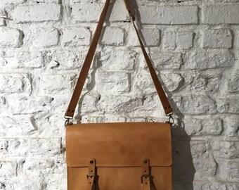 Urban Messenger Bag/Briefcase/Handstitched Leather Bag