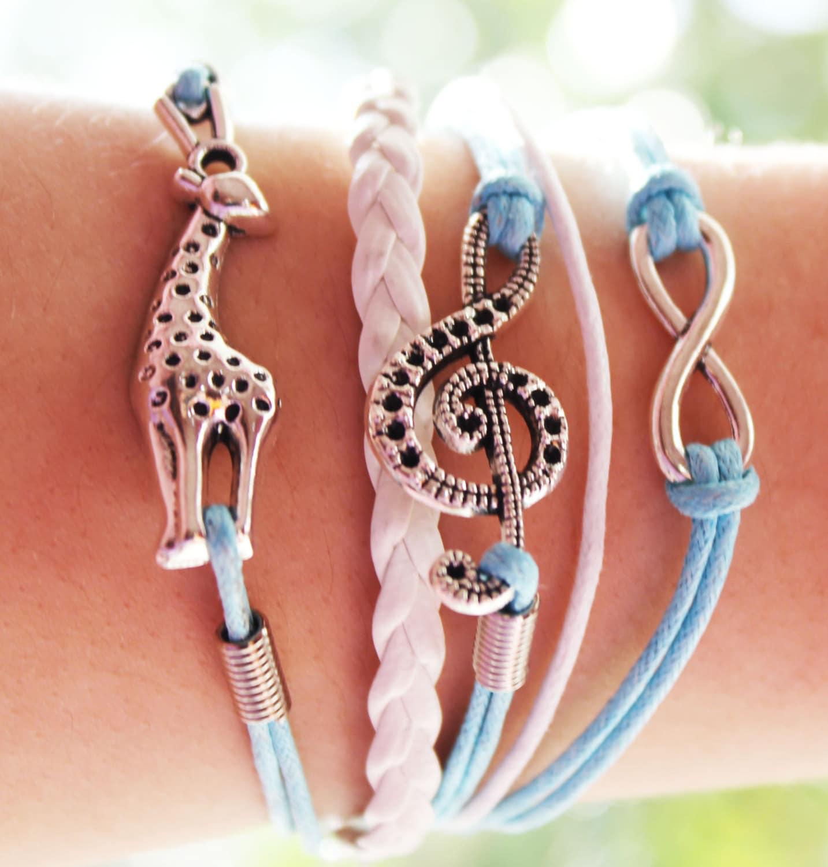 Giraffe Charm Bracelet: Giraffe Bracelet Giraffe Jewelry Friendship By BesideTheCloud