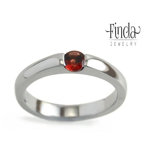 minimal engagement ring with garnet promise ring ring for. Black Bedroom Furniture Sets. Home Design Ideas