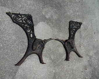 Antique Industrial Legs School Desk Legs Ornate Gothic Style Chair Bench Legs Minneapolis Cast Iron Legs, Chair, Seat