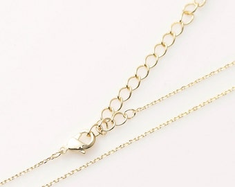 "5301001 / 16"" Chain, 230 4Diamond Cut Finished Chain with Lobster Clasp / 16k Gold Plated Brass / 16"" with Extra 2"" / 4pcs"