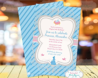 Cinderella Birthday Party Invitation | Cinderella Invitation | Princess Invitation | Cinderella Party
