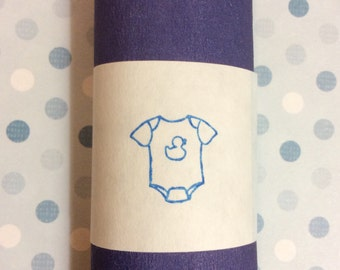 20 Blue Onesie Napkin Rings - Boy Baby Shower Decorations - Blue Baby Shower