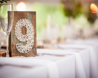 Full Set of Wedding Table Numbers ~ Rustic, Vintage, Reclaimed, Garden Style