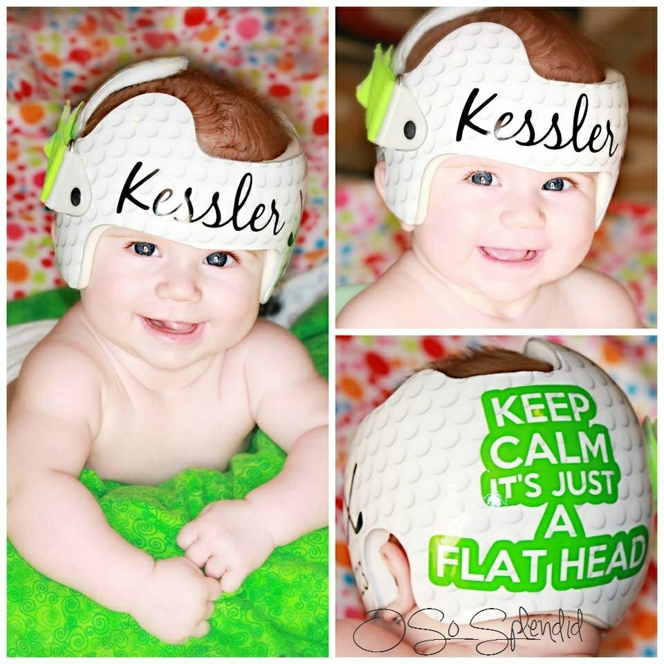 Personalized Cranial Band Golf Theme Keep Calm Its Just - Baby helmet decalspersonalized cranial band fairy decals just tinkering