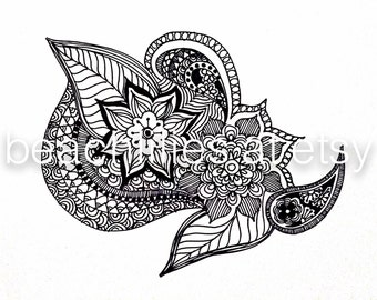 Henna Print Poster