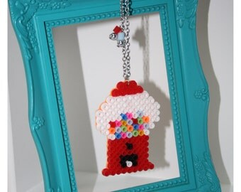Long Necklace Bubble Gum Machine Hama Beads