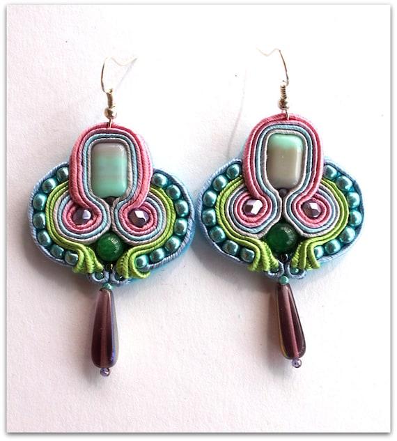 AZTEC soutache earrings, HANDICRAFT