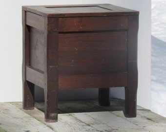 Amazing Antique Wooden Commode Incredible Primitive Bedside Potty Chair