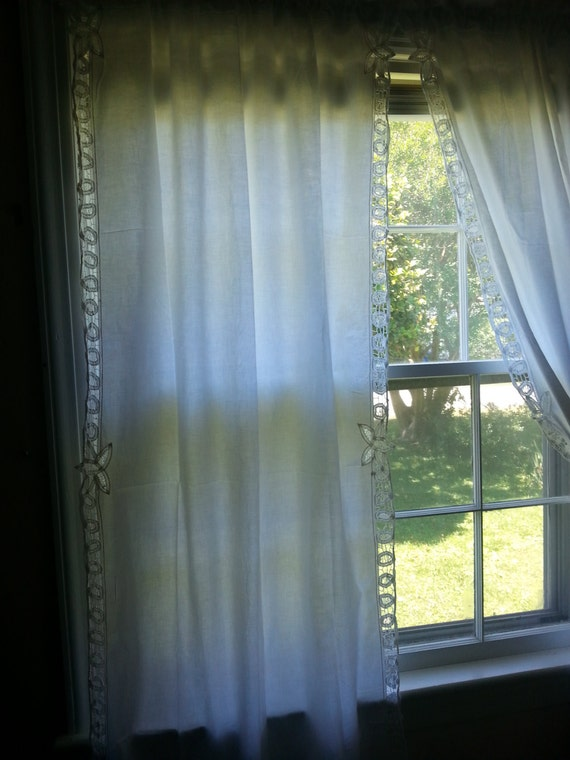 Bathroom Window Curtains Walmart Battenburg Lace Valances