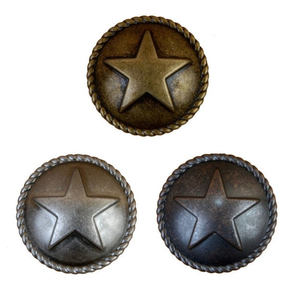 Star with rope drawer pulls or cabinet knobs western for Star cabinet pulls