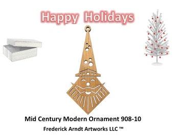 908-10 Mid Century Modern Christmas Ornament