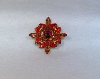 Orange and Yellow Vintage Brooch