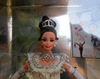 "Vintage ""My Fair Lady"" 1995 Barbie in Embassy Ball Gown Ball"
