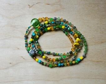 Emerald Spring Wrap Bracelet