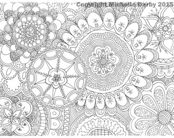Mandala Flowers Instant Download