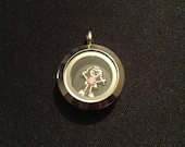 Mini Living Locket  - 20mm - Twist - Fits Origami Owl Charms and South Hill Designs Charms - Stainless Steel