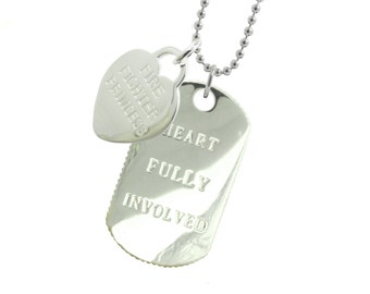 Firefighter Girlfriend Dog Tag - (Free Shipping)