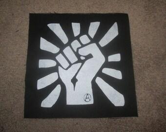 Anti-FA Fist Back Patch - Print, Screen Print, Punk, Patch, Stencil, Art, Hardcore, Anarchy, AFA, ALF