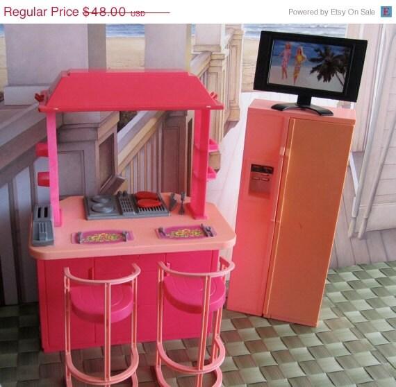 Summer Sale 25% Off Vintage Barbie Kitchen Set And Flat