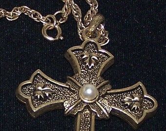 Like New Sarah Cov, Limited Edition Necklace Catholic Style Cross