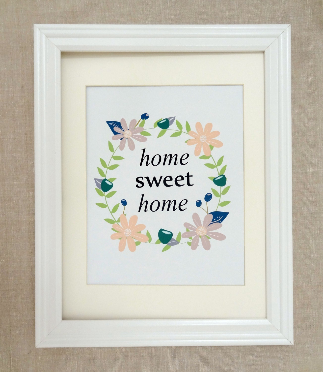 home sweet home sign home print home decor by cottonswirlshop. Black Bedroom Furniture Sets. Home Design Ideas