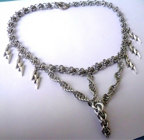 tornado necklace chainmaille necklace necklace