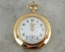 Antique Pendant Watch From Lucerne Switzerland In Yellow Gold E0H9JN