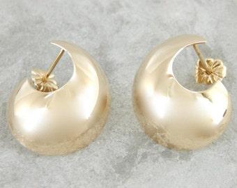 Yellow Gold Hoop Earrings  2JL6VZ