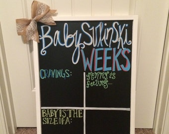 Weekly Pregnancy Update Chalkboard, Completely Customizable & Completely Reusable