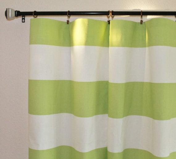 Premier print horizontal stripe cabana grey panel drapes rod curtains