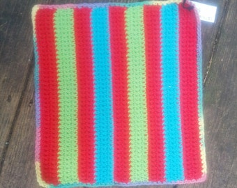 Medium Rat Hammock - Red, Turquoise, and Lime Green