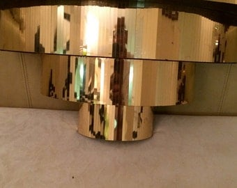 Three tier art deco HOLLYWOOD REGENCY mirrored shelf free shipping
