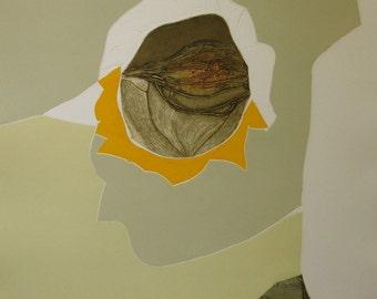 "Gilou Brillant ""Fleur de Soleil"" Original Etching S/N Artwork"
