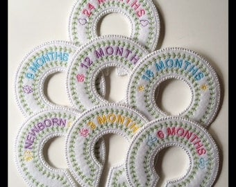 Baby Closet Organizer Dividers Embroidery File in pes, dst, vip, jef, hus and vp3 Formats - Instant Download