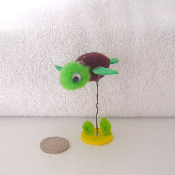 Pom Pet Critter Swimming Turtle 044. by KeleverArt on Etsy