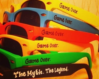 Game Over sunglasses for bachelor party/stag party/groomsman gifts/last night out/wedding