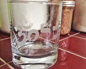 ShalOhm rocks/wine/pint/etc glass. Shalom/Ohm/Judaica/JewBu/Peace