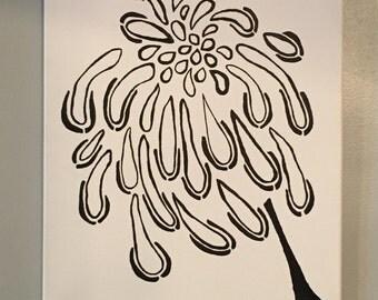Flower - Dandelion seed - Black and White