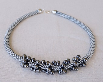 Gray Teardrop Necklace