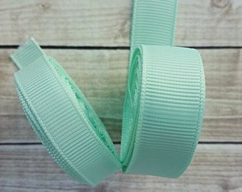 3/8 or 5/8 inch MINT grosgrain ribbon