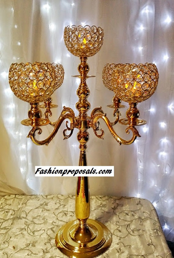Wedding tall candelabra centerpiece pure by fashionproposals