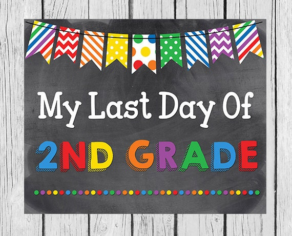 Gratifying image regarding last day of 2nd grade printable