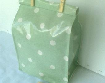 """Reusable Oilcloth Lunch Bag """"Mellow"""""""