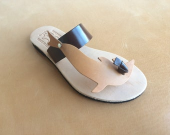 Leather Sandals US Size 5 to 11.. EU Size 35 to 41...BRNA102... Free Shipping